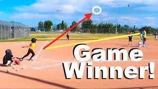 Download GIRL ON BOYS BASEBALL TEAM GETS GAME WINNING HIT! Video