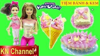 Download Đồ chơi POPIN COOKIN | KEM & BÁNH CAKE SHOP Búp bê Barbie GIA ĐÌNH LUCY tập 25 Kids toys Video