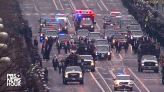 Download President Donald Trump's motorcade heads to White House Video