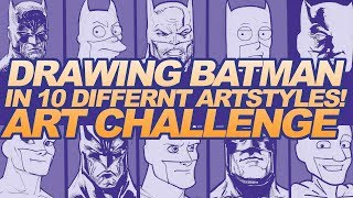 Download 10 DIFFERENT ART STYLES CHALLENGE! | DRAWING BATMAN in 10 STYLES! Video