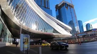 Download Downtown Edmonton Landmarks on Sunny November Day Video
