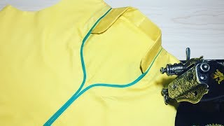 Download Half Collar Neck cutting and stitching Video