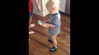 Download Toddler Calvin jammin' out to kids' songs Video
