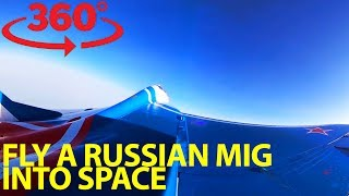 Download Rocket above the Earth on Soviet-made fighter jet in VR Video