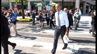 Download President Obama Walks The Streets Of Washington Video