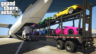 Download LOADING & HAULING EXOTIC CARS IN A CARGO PLANE! (GTA 5 PC Mods) Video