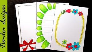 Download Easy   Border designs on paper   border designs   project work designs   borders for projects Video