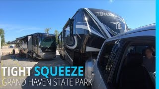 Download Tight Squeeze at Grand Haven State Park | RVing Michigan Video
