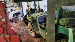 Download Willys Jeep rescue.... wedged in a barn for 30 years...let's try and lift it out!! Video