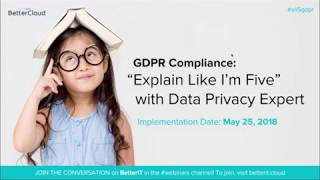"""Download GDPR Compliance: """"Explain Like I'm Five"""" with Data Privacy Expert Video"""