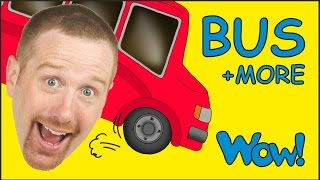 Download Wheels On The Bus and MORE from Steve and Maggie | Short Stories for Kids by Wow English TV Video