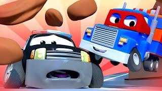 Download O caminhão ambulância Carl o Super Caminhão na Cidade do Carro | Desenho animado para crianças Video