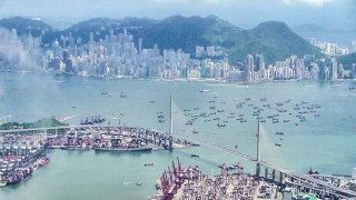 Download Landing in Hong Kong, Great City View. Boeing 777 Cathay Pacific Video