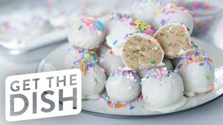 Download No-Bake Birthday Cake Oreo Truffles with Gemma Stafford | Get the Dish Video