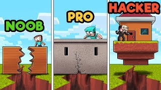 Download Minecraft - EARTHQUAKE BASE CHALLENGE! (NOOB vs. PRO vs. HACKER) Video
