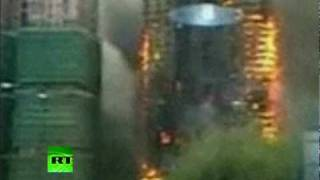 Download Video of Shanghai skyscraper inferno as 53 killed in China fire Video