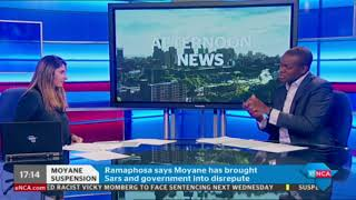 Download SARS boss Tom Moyane won't be going down without a fight Video