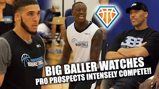 Download LAVAR BALL Watches INTENSE 3-ON-3 ACTION w/ LiAngelo Ball & Draft Prospects!! | PBC Highlights Video