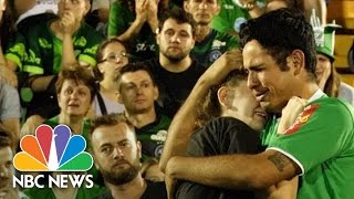 Download Chapecoense Fans Mourn At Brazil Soccer Team's Stadium Following Plane Crash | NBC News Video