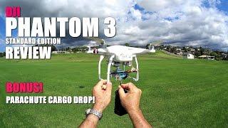 Download DJI PHANTOM 3 STANDARD Review - [Flight Test - Bonus Parachute Cargo Drop!] Video