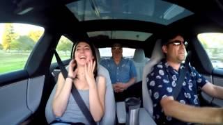 Download Tesla P85D reactions Video