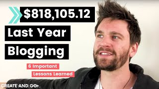 Download We Made $818,105.12 Last Year Blogging – 6 Most Important Lessons We Learned Video