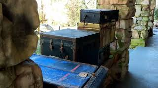Download Abandoned 103 year old Mansion with luggage on the porch Chattanooga TN Video