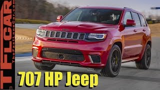 Download 707 HP Jeep Grand Cherokee Trackhawk Early Look: The Quickest SUV Ever? Video