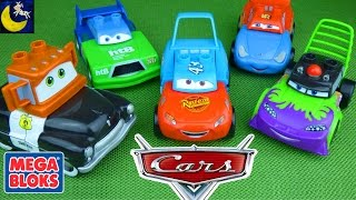 Download Disney Cars Mix and Match Mega Bloks Toys! Dinoco Lightning Mcqueen Mater Funny Toy Videos for Kids! Video