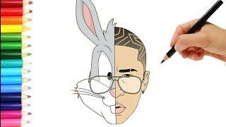 Download Como Dibujar a Bad Bunny 😱 😱 😱 Bad Bunny speed Paint Video