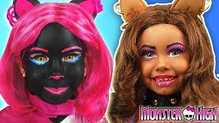 Download Kids Makeup Monster High Compilation Alisa Play with Dolls & makes Cosplay with Colors Paints Video