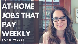 Download At-Home Jobs That Pay Weekly (and well) Video