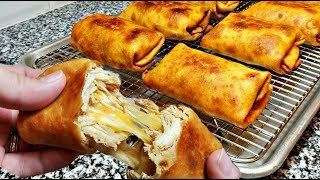 Download How To Make Chimichangas   Cheesy Chicken Chimichangas   Chimichanga Recipe Video