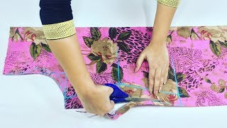 Download Beautiful kurti design With Front Open Drafting Cutting and Stitching Video