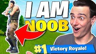 Download The *I AM NOOB* Challenge in Fortnite: Battle Royale!! Video