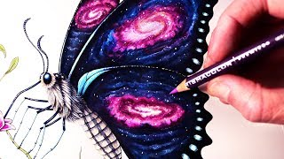 Download Let's Draw a GALAXY BUTTERFLY - FANTASY ART FRIDAY Video
