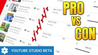 Download YouTube Studio Beta PRO vs CON (New Video Manager Dashboard Review) Video