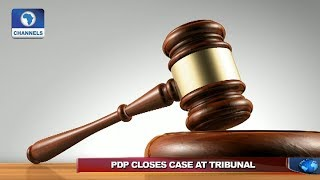 Download PDP, Atiku Close Case Against Buhari's Victory Video