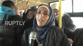 Download Syria: Buses take civilians back to liberated eastern Aleppo Video