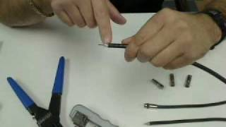 Download How to Prep Coaxial Cable and Install a Compression Connector (Close Up Demo) Video