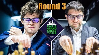 Download Magnus Carlsen vs Najdorf specialist Maxime Vachier-Lagrave - Round 3 (GCT Paris 2017) Video