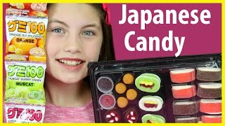 Download ❤️ JAPANESE CANDY HAUL Sushi Marshmallow Gummy Treats Kids candy review taste test using Chopsticks Video