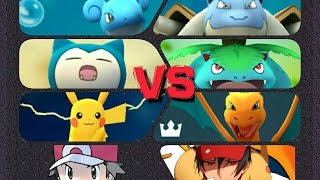 Download Pokémon GO Gym Battles Red Theme Pikachu Charizard Blastoise Venusaur Lapras Snorlax & more Video