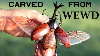 Download How-To Carve a Realistic beetle out of Wewd Video