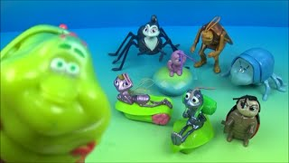 Download 1998 DISNEY PIXAR A BUG'S LIFE SET OF 8 McDONALD'S HAPPY MEAL KIDS TOYS VIDEO REVIEW Video