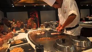Download teppan edo chef making dinner Video