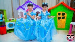 Download หนูยิ้มหนูแย้ม | ซินเดอเรลล่ากับแม่เลี้ยงใจร้าย Cinderella Kids Role Play Video