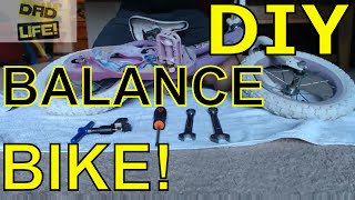 Download DIY Balance Bike | DIY Dad | How To Transform a kid's bike into a balance bike! Convert to Strider Video