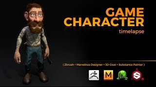 Download GAME CHARACTER TIMELAPSE | ZBRUSH, MARVELOUS DESIGNER, 3DCOAT and SUBSTANCE PAINTER Video