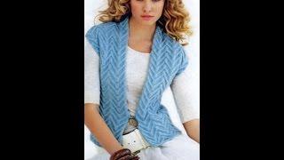 Download Вязаные женские жилеты и безрукавки - 2018 / Knitted women's jackets and vests Video